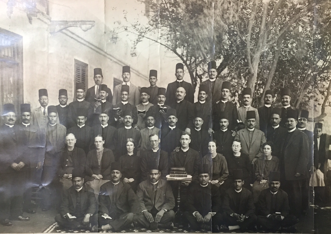 Some of my parents' brothers and sisters in ministry in Assiout, Egypt, in 1929 (close-up photo below).